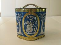 Vintage Murray Allen Tin Container With Lid Made In England Grecian Classic