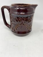 Vintage Brush McCoy Pottery Pitcher Avenue of Trees #131