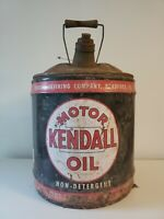 Kendall Motor Oil 5 Gallon Can vintage antique automotive aviation advertising