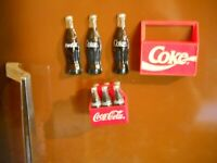Coca Cola Fridge Magnets 1995 and 1993 Coke crate Mellow Yellow Pepsi