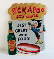 15quot; KICKAPOO JOY JUICE Hillbilly Hotdog Sign Soda Pop Al Capp modern retro