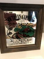 Vintage Southern Comfort Whiskey Advertising Glass Bar Mirror