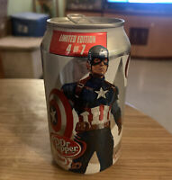Limited Edition 2015 Avengers Age Of Ultron Captain America Dr. Pepper Can
