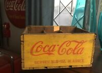 Vintage Coca Cola 6 Pack Family Size Wood Crate Rare HTF FREE US SHIPPING