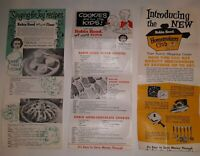 3 Vintage 1950s Robin Hood Flour Advertising Homemakers Recipe Stamp Coupon Lot