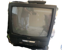 Vintage Gaming PHILIPS TV DVD. Model: CDV19BPH23 Retro with remote. 19 Inches. $29.95
