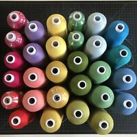 NEW USED Assorted Colors ProLock Serger Threads 6000 8500 YD JUMBO CONES Lot $100.00