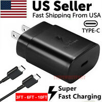25W Type USB C Super Fast Wall Charger3 6 10FT Cable For Samsung Galaxy S20 S21 $9.89