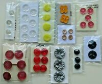 Vintage Sets Used Buttons Varied Colors Shapes Features You Choose Group 1