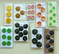 Vintage Sets Used Buttons Varied Colors Shapes Features You Choose Group 2