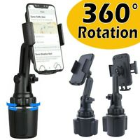 Adjustable Car Mount Cup Holder Phone Stand Cradle For Universal Samsung iPhone $10.39