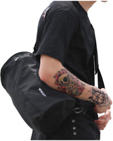 Small Sports Gym Bag Workout Lightweight Duffel Bags for Men and Women Black X S
