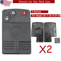2 Replacement Smart Card Remote Key Shell Case Fob for Mazda CX 7 CX 9 2007 2009 $19.58