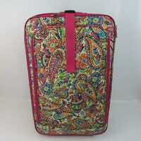 Travel Quarters Rolling Suitcase Set 2 in 1 Pink Paisley Print 13x20 and 16x24