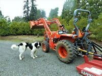277 LOW Hours KUBOTA L3400 HST 4WD ORCHARD TRACTOR 35 HP w LOADER 5 Implements
