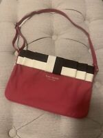 Kate Spade Pink with Black and White Bow Handbag