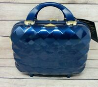 Triforce Firenze Collection Hardside Carry On Suitcase Beauty Case Blue 12X12