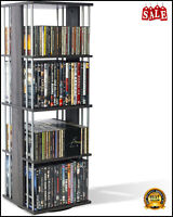 Media Spinner Unit Storage Rotates Compact CD DVD PS5 Xbox Games Book Shelf Rack