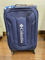Columbia Cabin Lake Black 26quot; Lightweight Spinner Suitcase Blue