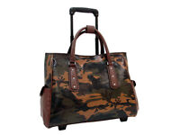 Mellow World Camouflage Rolling Laptop Tote Carry On Luggage Big Camo Bag Travel