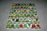 Lot of 48 DIFFERENT seed Packets Bright Colorful Lithography