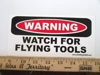 Watch Flying Tools Tool Box Chest Bumper Sticker Decal