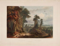 Karl Bodmer : quot;New Harmony on the Wabashquot; 1841 — Giclee Fine Art Print $29.99