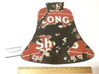 Extremely Rare PORCELAIN Long Wear Shoes Thick Double-Sided Sign White/Red Ad.