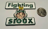 UND University of North Dakota Fighting Sioux iron on embroidered patch 3quot;x 2.5