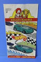 HOT WHEELS MCDONALDS HAPPY MEAL BAG BARBIE ON OPPOSITE SIDE FROM 1999