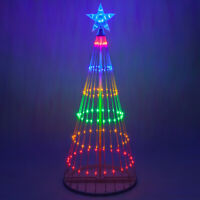 LED Light Show Cone Christmas Tree Outdoor Christmas Decoration, 14 Functions