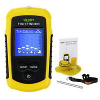 Lucky Wireless Fish Finder Sonar, LCD Display Backlight Turbid Water Sea River