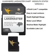 HUMMINBIRD LAKEMASTER CHART - MIDSOUTH STATES -VERSION 4: With Over 80 New Lakes