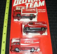 1979 COCA-COLA DIECAST TRUCK SET (3) NEW ON CARD HARTOY DELIVERY TEAM!!* WH13-M