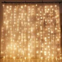 Twinkle Star 300LED Window Curtain String Light Wedding Party Home Garden