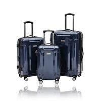 New S KROSS 3 Piece Spinner Hardside 20quot; Carry On 24quot; and 28quot; Luggage Set