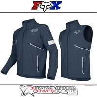 2019 Fox Racing Mens Legion Softshell Navy Dirt Bike Jacket Dual Sport ATV