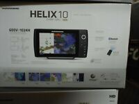 Humminbird Helix 10 Chirp GPS G2N NEW IN BOX with transducer