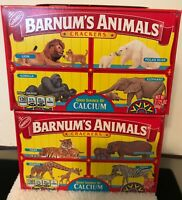 NEW NABISCO Barnum's Animal Crackers Caged Animal 2 Boxes Discontinued 2.125 Oz