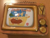 M&M's World Collectible Tin Old TV Shaped Lunch Pail Candy Coated (See Desciptio