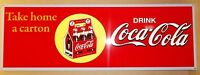 Beautiful Coca Cola 6-Pack Sign, Bright Color and Shine, Heavy Steel