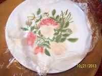 exquisite Mount Washington Glass Co handpainted plate LOOK