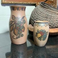 Set of 2 Lauritz Hjorth Pottery Vases  7 1/2