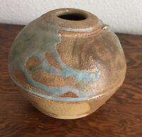 Signed Weedpot Pottery Vase Bowl Ceramic Stoneware