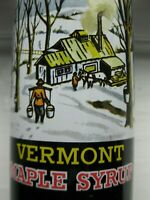 Vintage Rare Pure Vermont Maple Syrup Can Advertising NOS FULL Tin Horse Cabin