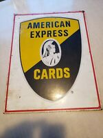 American Express vintage METAL Sign GENUINE AUTHENTIC
