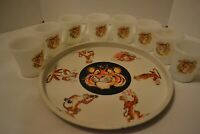 8 ESSO TIGER FIRE KING CUPS and TRAY