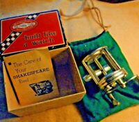 VINTAGE SHAKESPEARE Fishing reel CRITERION 1960AS DELUXE WITH BOX -BAG-BOOKLET