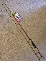 Eagle Claw Fish Skins Spinning Rod 6' 2 Pc Rod Light Action Rainbow Trout Color