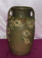Vintage Roseville Art Pottery Vase  12 1/2 Inches Tall Dogwood Pattern